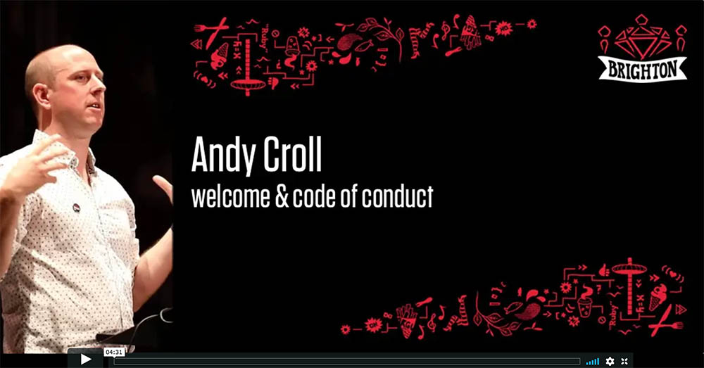 Andy Croll - Code of Conduct