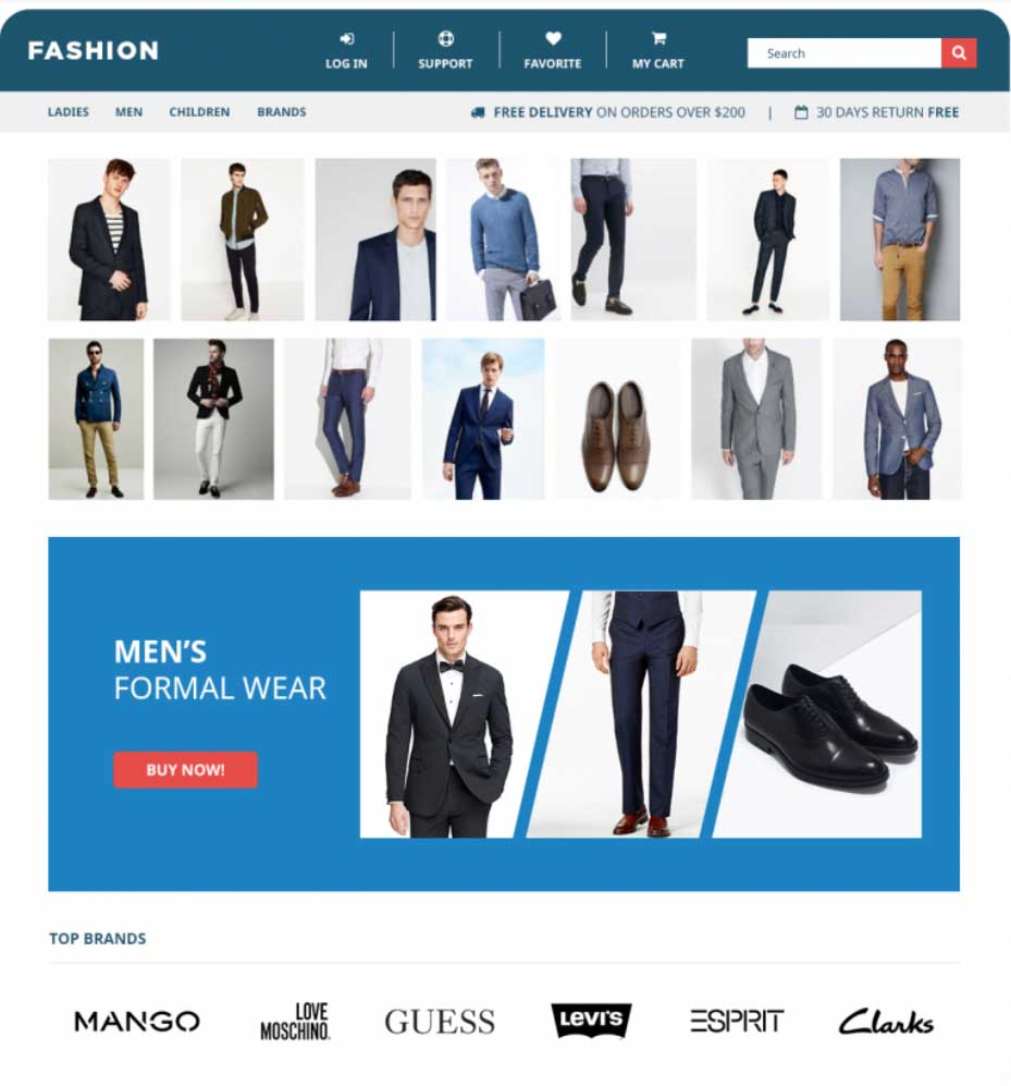 Fashion Website Example