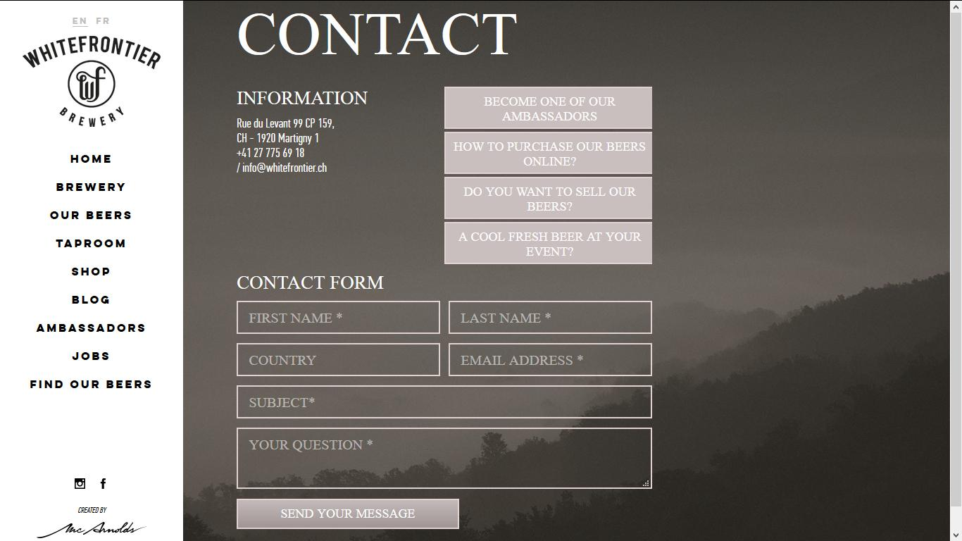 White Frontier Contact Page