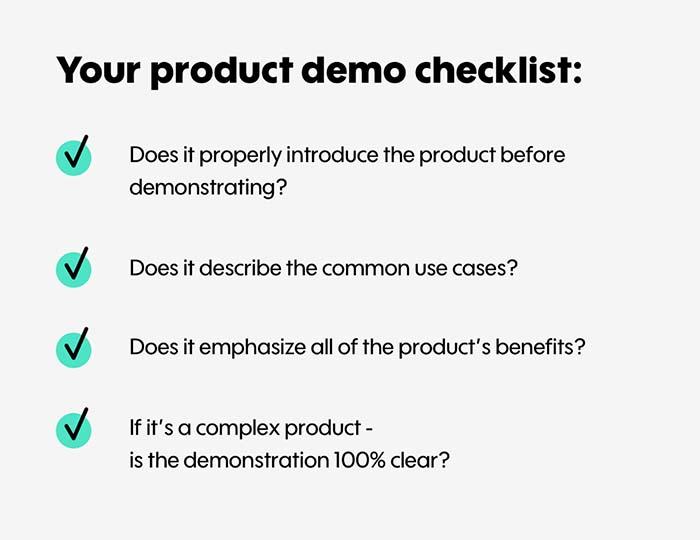 Product Demo Checklist